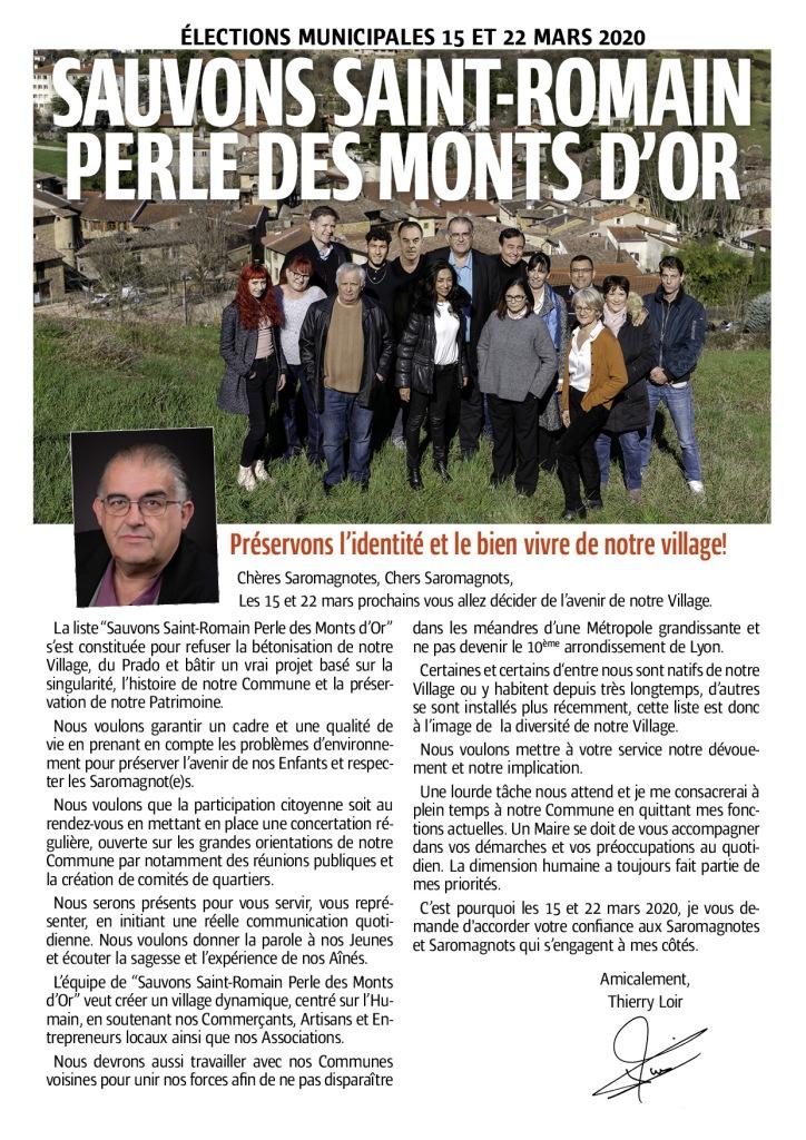 Sauvons Saint Romain Perle des Monts d'Or  Préservons l'identité et le bien vivre de notre village